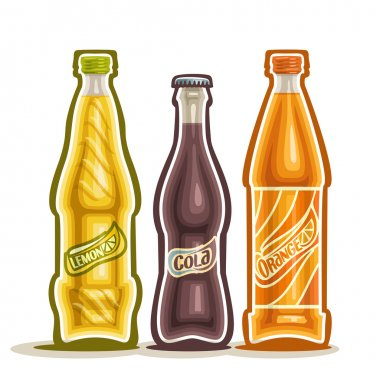 Vector illustration on the theme of the logo for carbonated drinks