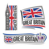 Vektor Illustration Logo für Großbritannien