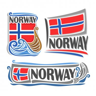 Vector illustration of the logo for Norway