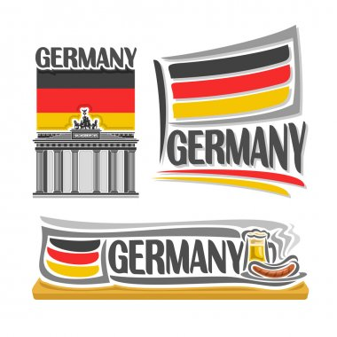 Vector illustration of the logo for Germany