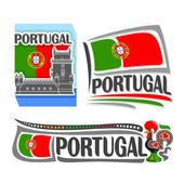 Vektoros illusztráció a logó, Portugália