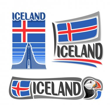 Vector illustration of the logo for Iceland