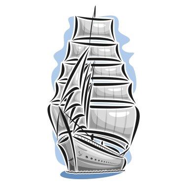 Vector logo sailing ship