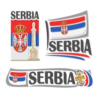 Vector logo for Serbia