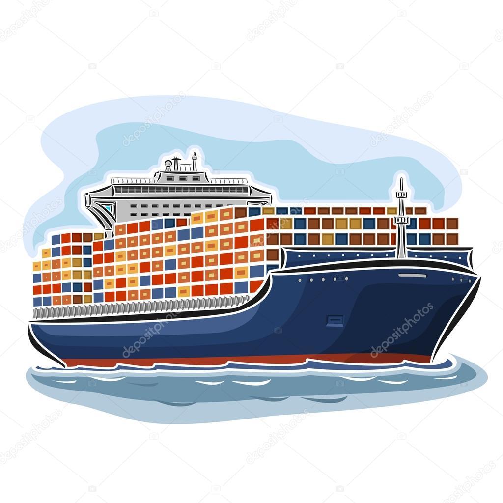 Illustration vectorielle de logo pour des porte conteneurs for Porte conteneur