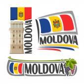 Fotografia Vector logo Moldova