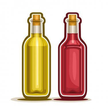 Vector logo Red and Yellow Wine Bottles