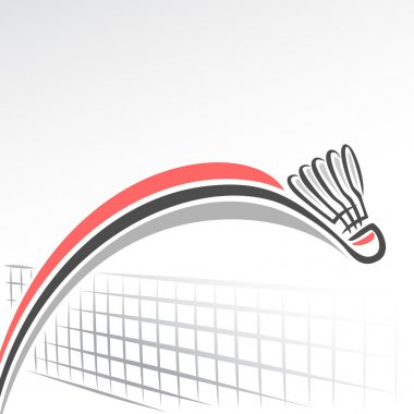 Abstract background on the badminton theme