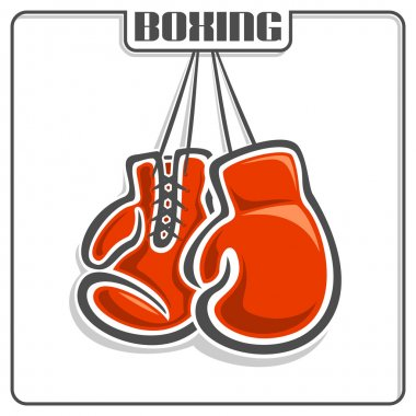 The image of boxing gloves