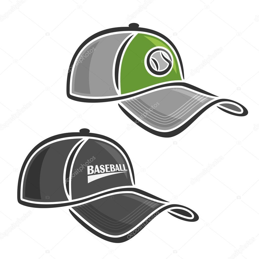 1ee57426e58d9 Gorras de béisbol del Club de dos tipos - gorra de pelotero — Vector de  mihmihmal — Vector de ...
