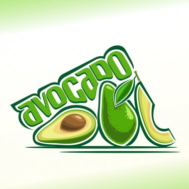 Vector illustration on the theme of  avocado
