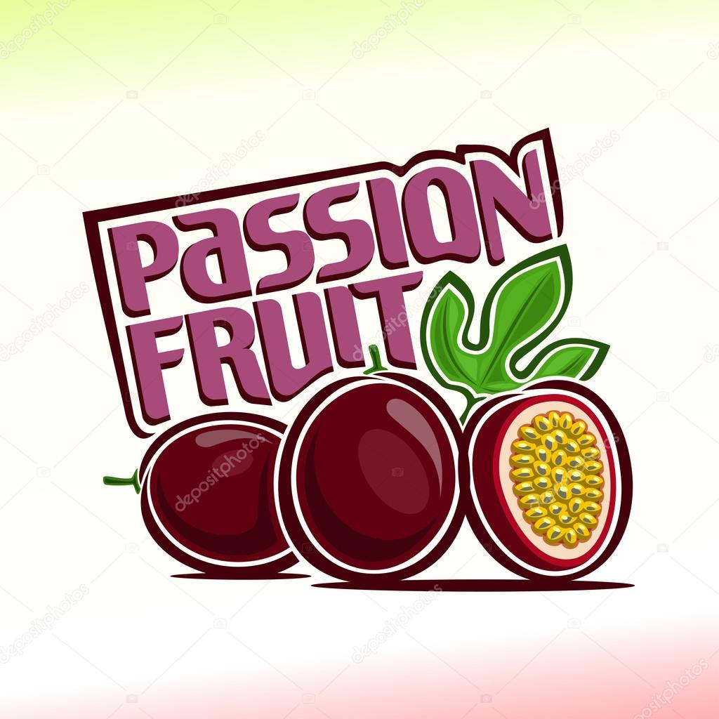 Abstract vector illustration on the theme of  passion fruit clipart vector