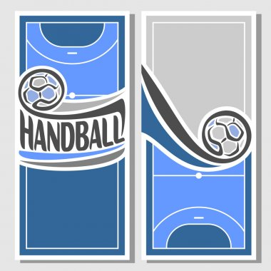 Background images for text on the theme of handball