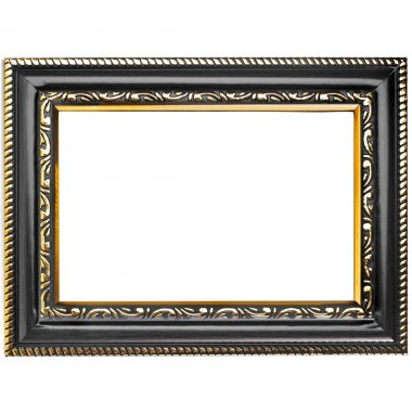 Picture photo frame isolated on a white background stock vector