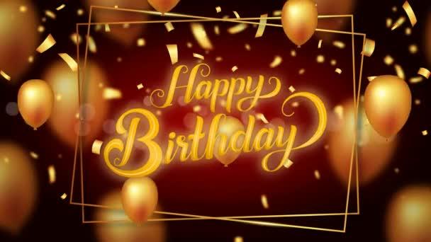 Boldog születésnapot szöveg, Loop animációs háttér.