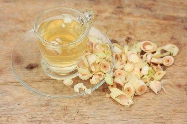 Hot tea with lemon grass