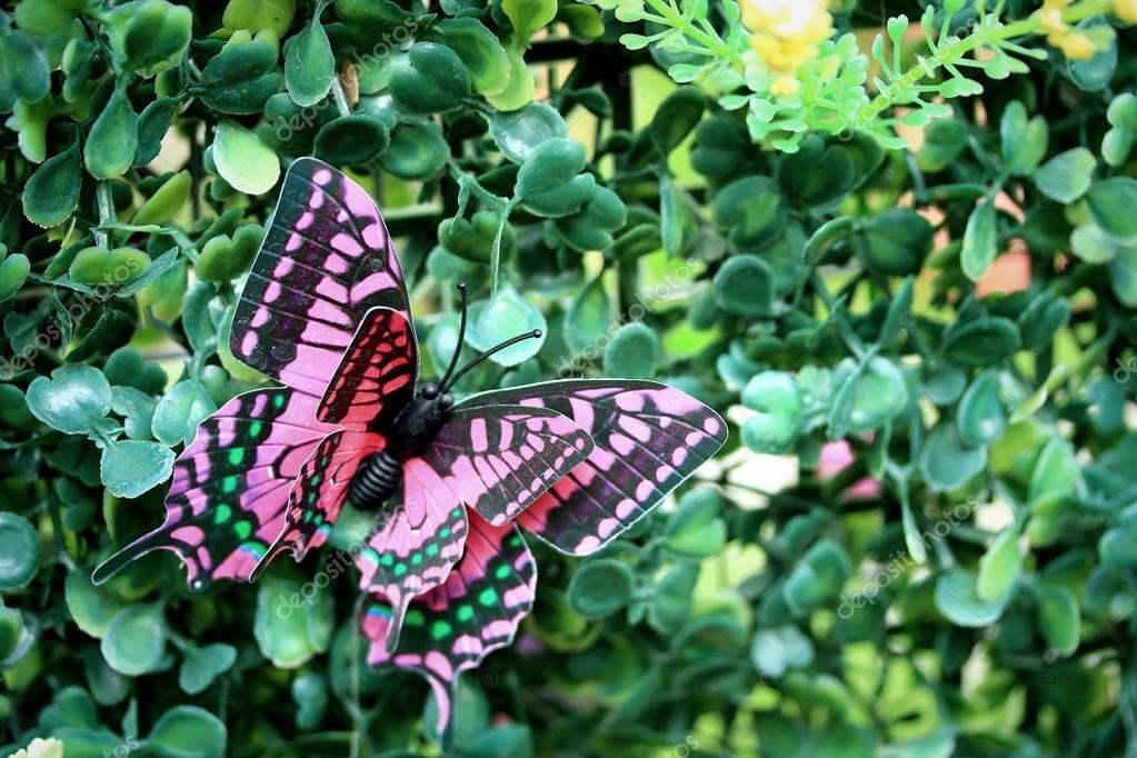 Artificial Butterfly Garden Decor U2014 Photo By Oilslo