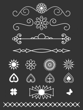 Dividers, border and line art decorations