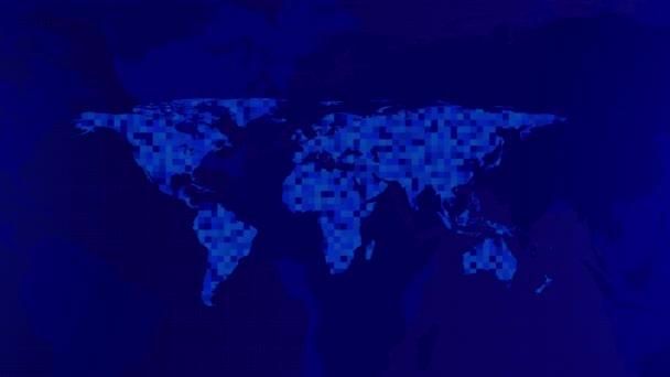 World map digital technology concept, Business networking, digital tech presentation map.