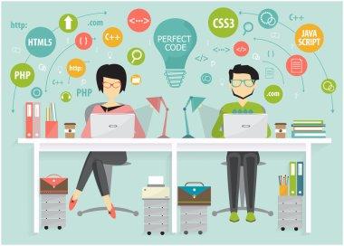 proggramer and designer coworking