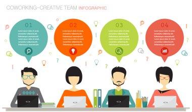Coworking, teamwork concept