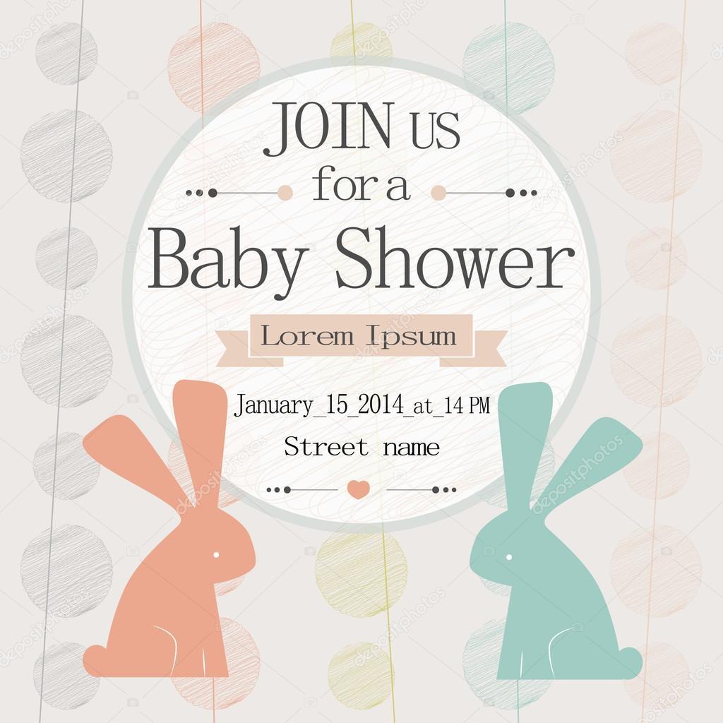 Babyparty-Einladung — Stockvektor © danielala #77367614