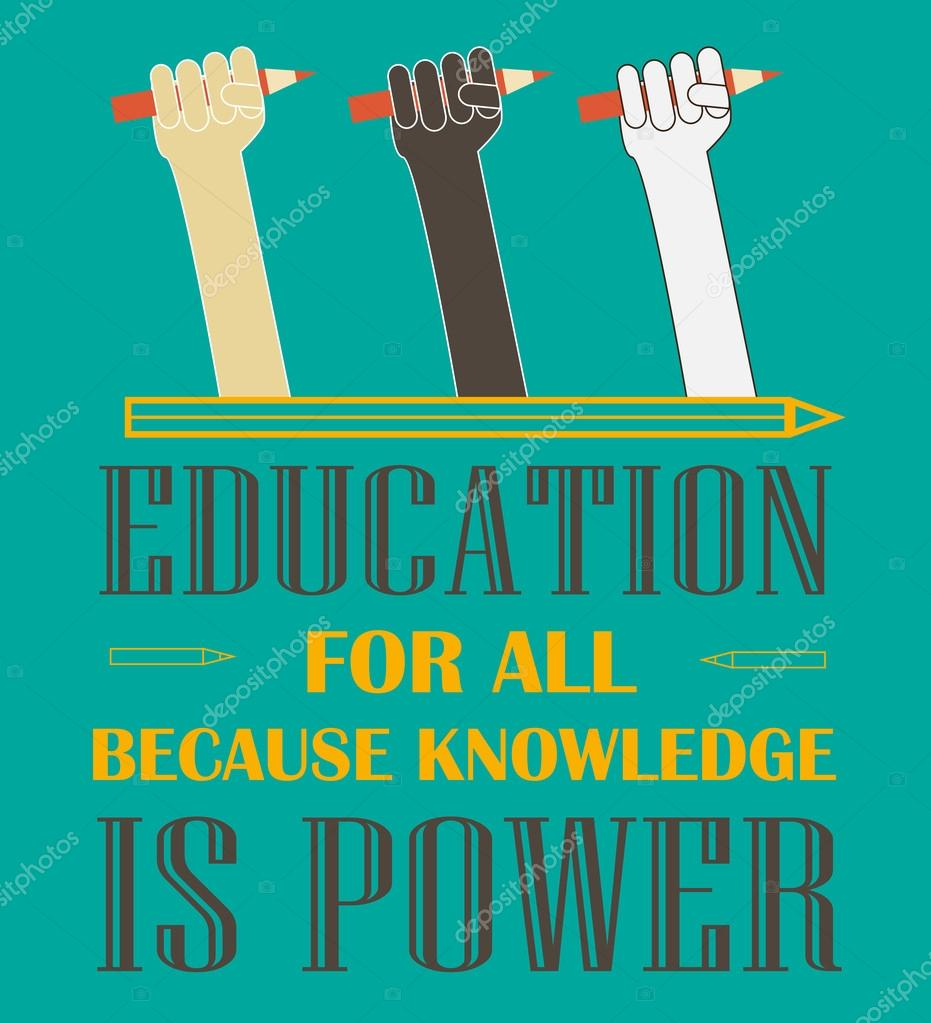 Education for all poster — Stock Vector © danielala #77368788