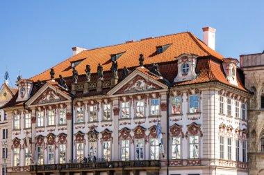 Prague houses, Czech Republic. Old Town, Staromestska square