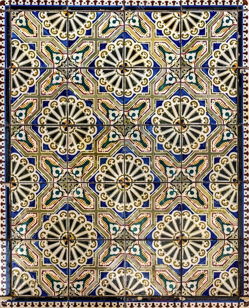 Piastrelle di ceramica antica museo azulejo lisbona - Stock piastrelle 2 euro ...