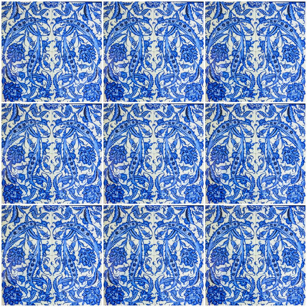 Ornamentalen Orientalischen Hintergrund Blaue Fliesen Türkisch - Fliesen auf türkisch