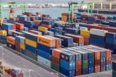 Casablanca, Marocco - 8 luglio 2016: Terminal Container nel porto di Casablanca, Marocco