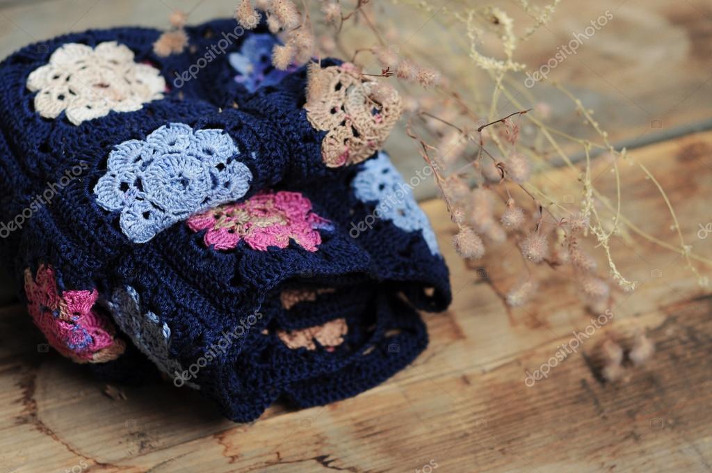 manta de cuadrados flor abuelita — Fotos de Stock © different_nata ...