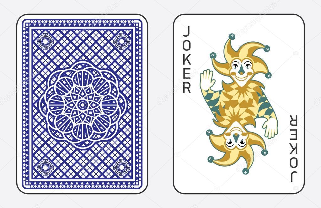 Jugando a las cartas con el Joker — Vector de stock © rlmf.net ...