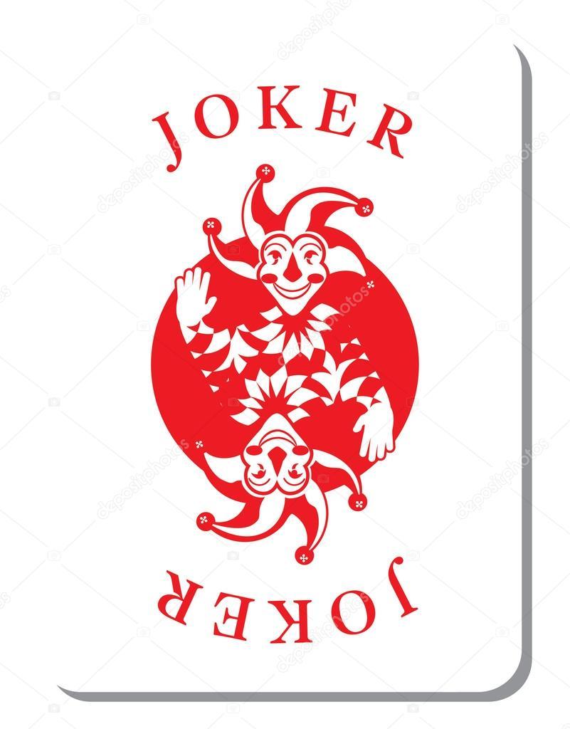spielkarten mit dem joker stockvektor 100959946. Black Bedroom Furniture Sets. Home Design Ideas