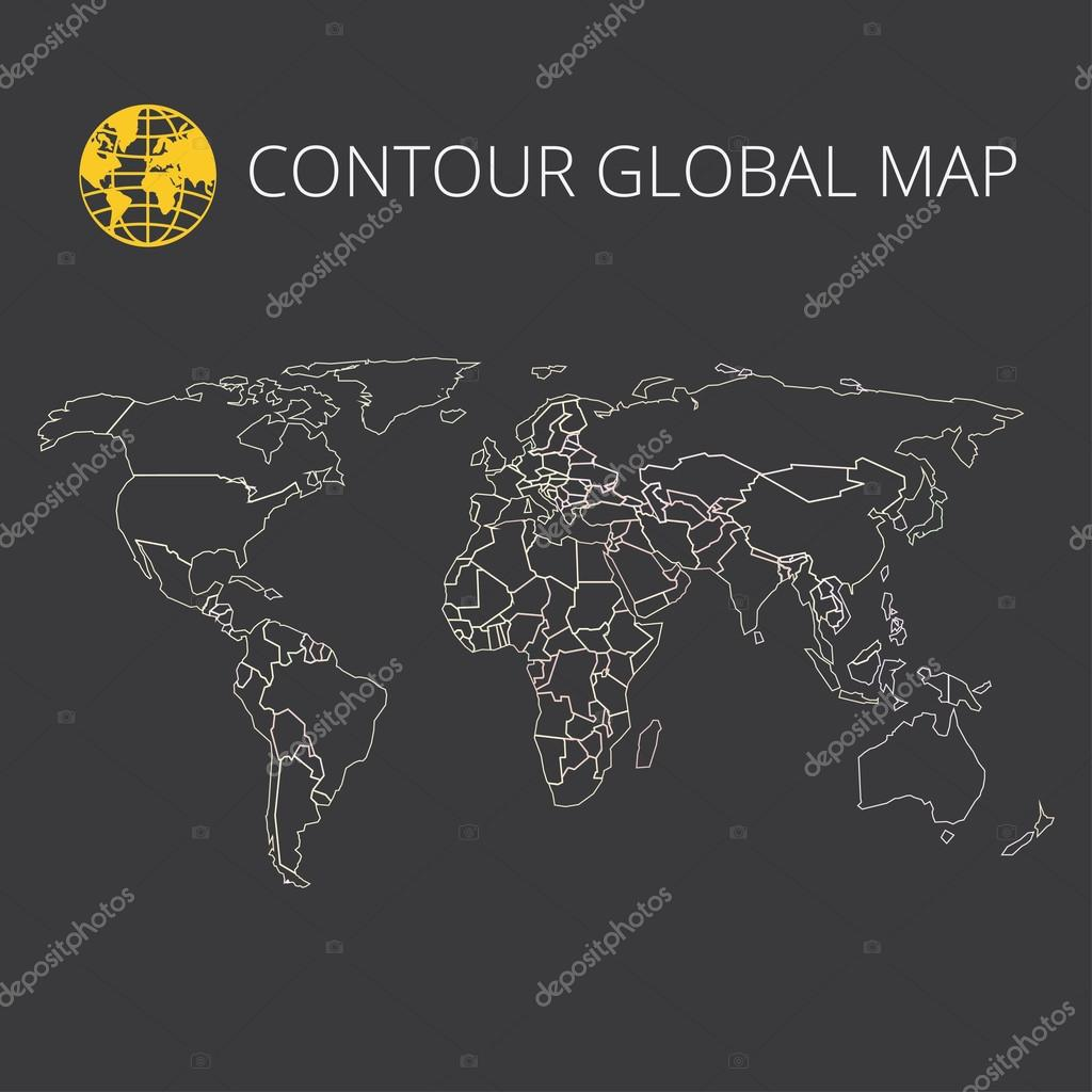 World map vector stock vector rlmf 115585688 world map vector illustration high quality image in the style of broken lines detail and continents of the world colour identification gumiabroncs Images