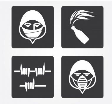 Simple web icon in vector: crime