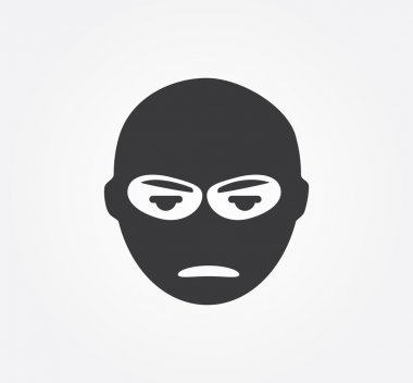 Simple web icon in vector: crime