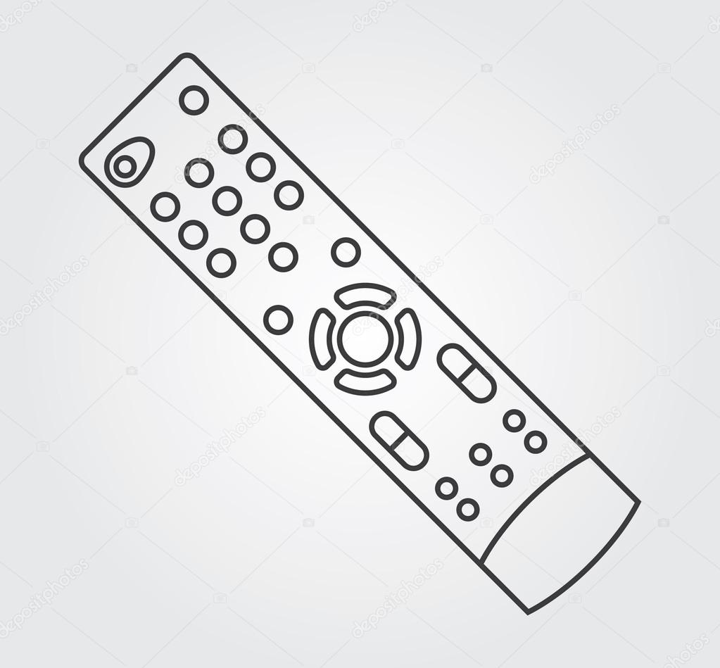 simple icons tv remote control stock vector rlmfnet 83796370