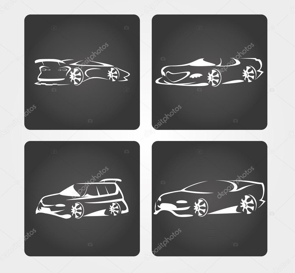 Einfaches Symbol: Auto-Silhouette-Design — Stockvektor © rlmf.net ...