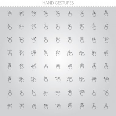 Simple Web Icons Set: Hand Touch