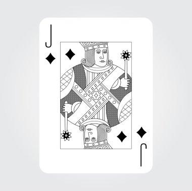Single playing cards vector: Jack Diamonds