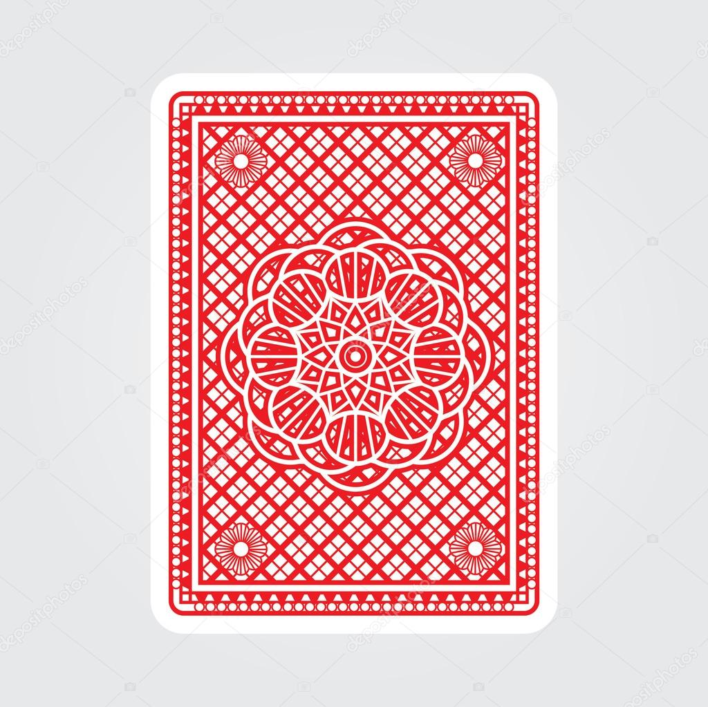 Line Art Card Design : Playing cards back — stock vector rlmf