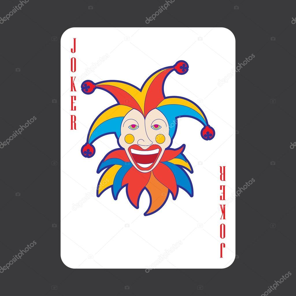 Wektor Jednej Karty Do Gry Joker Grafika Wektorowa C Rlmf Net