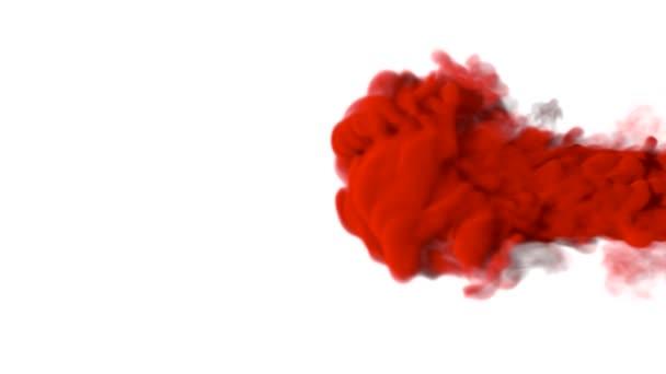 červený kouř