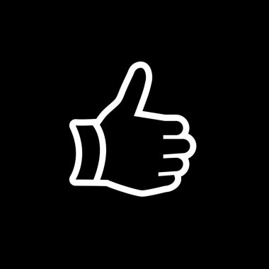 Hand thumb up gesture icon