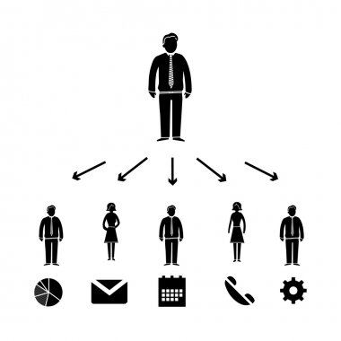 Icon with pictograms of people