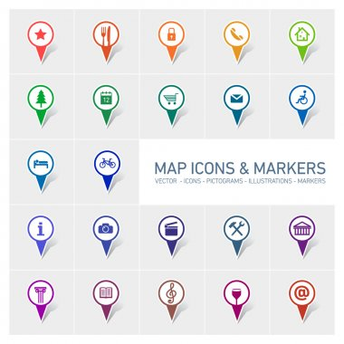 Icons and markers set