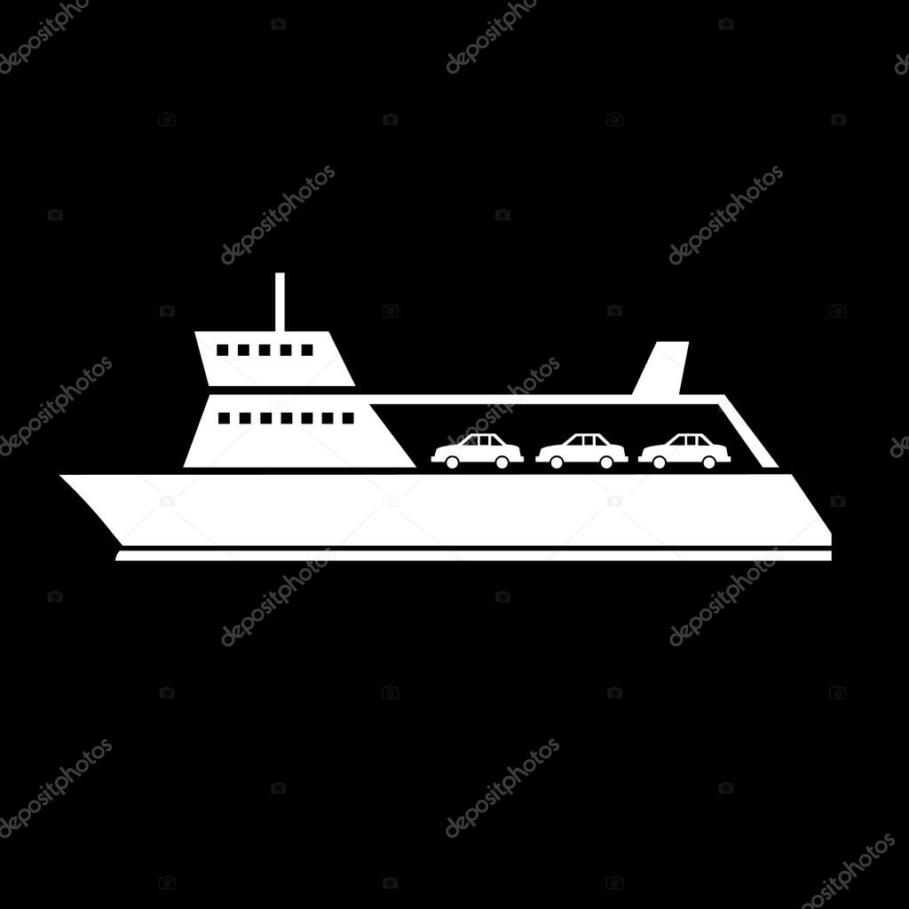 ferry transportation icon
