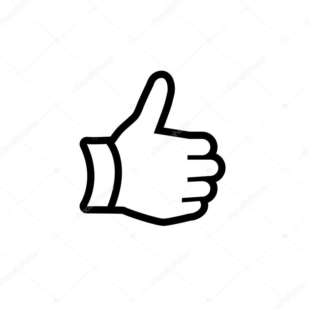 thumbs up hand symbol free gestures icons flaticon - HD 1024×1024