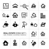 vektor nemovitostí ikony nastavit